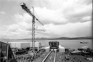 Launch of 'Stirling Clyde', Ferguson's Shipyard in Port Glasgow,  17th May 1996.