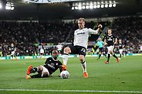 DERBY, ENGLAND - MAY 11: - DCFC vs Fulham. Matej Vydra, gets past a Fulham defender