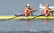 Marathon, GREECE, POL W2X,  Slow Shutter,  at the FISA European Rowing Championships.  Lake Schinias Rowing Course, FRI 19.09.2008  [Mandatory Credit Peter Spurrier/ Intersport Images] , Rowing Course; Lake Schinias Olympic Rowing Course. GREECE