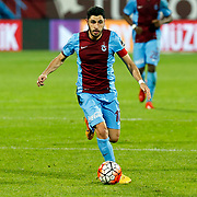 Trabzonspor's Ozer Hurmaci during their Turkish Super League match Trabzonspor between Gaziantepspor at the Avni Aker Stadium at Trabzon Turkey on Wednesday, 28 October 2015. Photo by Aykut AKICI/TURKPIX