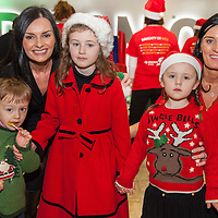 Liz Mangan from Shannon with her son Christian and daughter Emily Cunneen and her sister Denise Mangan-Fahy from Braodford with her daughter Claire Fahy waiting to board their Santa Flights at Shannon Airport