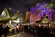 Christmas market Markt der Engel / Angel Market on Neumarkt, Cologne.