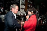 CARL FREEDMAN; GILLIAN WEARING, Counter Editions 10th anniversary party. Rivington Grill. Shoreditch. London. 5 May 2010 *** Local Caption *** -DO NOT ARCHIVE-© Copyright Photograph by Dafydd Jones. 248 Clapham Rd. London SW9 0PZ. Tel 0207 820 0771. www.dafjones.com.<br /> CARL FREEDMAN; GILLIAN WEARING, Counter Editions 10th anniversary party. Rivington Grill. Shoreditch. London. 5 May 2010