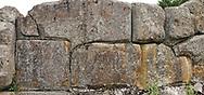 Close up pictures & Images of the wall stones of Alaca Hoyuk (Alacahoyuk) Hittite archaeological site  Alaca, Çorum Province, Turkey, Also known as Alacahüyük, Aladja-Hoyuk, Euyuk, or Evuk .<br /> <br /> If you prefer to buy from our ALAMY PHOTO LIBRARY  Collection visit : https://www.alamy.com/portfolio/paul-williams-funkystock/alaca-hoyuk-hittite-site.html<br /> <br /> Visit our TURKEY PHOTO COLLECTIONS for more photos to download or buy as wall art prints https://funkystock.photoshelter.com/gallery-collection/3f-Pictures-of-Turkey-Turkey-Photos-Images-Fotos/C0000U.hJWkZxAbg