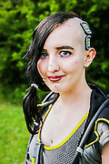 Angel from Borderlands.  Cosplayer at Animefest 2015 in the city of Brno, czech republic.