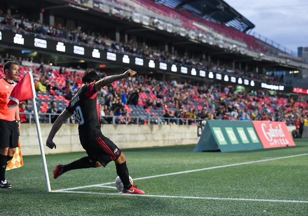 OTTAWA, ON - MAY 25: USL match between the Ottawa Fury FC and Bethlehem Steel FC at TD Place Stadium in Ottawa, ON. Canada on May 25, 2018.<br /> <br /> PHOTO: Steve Kingsman/Freestyle Photography/Ottawa Fury FC