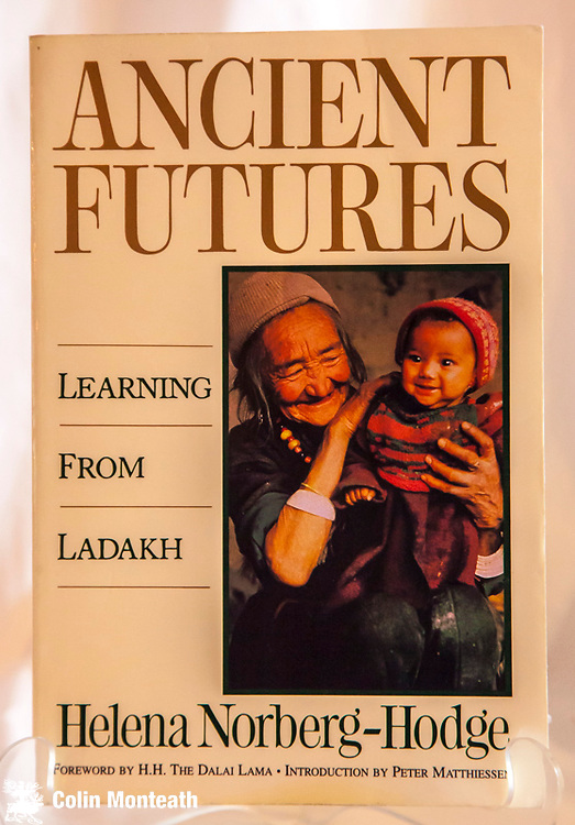 ANCIENT FUTURES - learning from Ladakh - Helena Norberg-Hodge, intro by Peter Matthiessen, Foreword by HH The Dalai Lama, Sierra Club, USA, 200 page, inscription on title page,  softbound VG - a great book for anyone wanting to know more about Ladakh culture. $NZ35