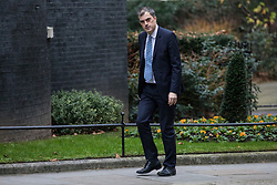 © Licensed to London News Pictures. 09/01/2018. London, UK. Conservative Chief Whip Julian Smith arrives on Downing Street for the first meeting of the Cabinet after Prime Minister Theresa May's reshuffle. Photo credit: Rob Pinney/LNP