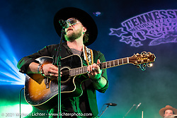 Tyler Jay playing the Main Stage at Loretta's Roadhouse during the Tennessee Motorcycles and Music Revival at Loretta Lynn's Ranch. Hurricane Mills, TN, USA. Thursday, May 20, 2021. Photography ©2021 Michael Lichter.