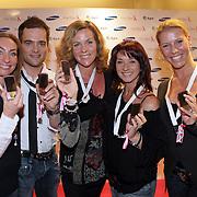 NLD/Haarlem/20081001 - Presentatie Pink Ribbon Ladyphone, July Fryer, Ilse Lans, Paul Wilking, Roemjana de Haan, Koen Brouwers