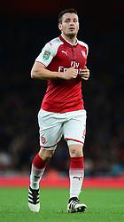 Mathieu Debuchy of Arsenal - Mandatory by-line: Alex James/JMP - 24/10/2017 - FOOTBALL - Emirates Stadium - London, England - Arsenal v Norwich City - Carabao Cup