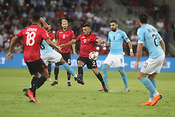 October 14, 2018 - Be'Er Sheva, Israel - Ledian Memushaj (#9) of Albania fight for the ball during UEFA Nations League C group 1 match between Israel and Albania at Turner Stadium in Be'er Sheva, Israel, on 14 October 2018. Israel won 2-0. (Credit Image: © Ahmad Mora/NurPhoto via ZUMA Press)