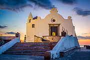 The church Chiesa del Soccorso in Forio on the island of Ischia, Italy. Forio (known also as Forio of Ischia) is a town and comune of c. 17,000 inhabitants in the Metropolitan City of Naples, southern Italy, situated on the island of Ischia.