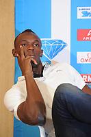 ATHLETICS - USAIN BOLT PRESS CONFERENCE - AREVA MEETING 2011 - PARIS (FRA) - 06/07/2011 - PHOTO : STEPHANE KEMPINAIRE / DPPI - <br /> USAIN BOLT (JAM)