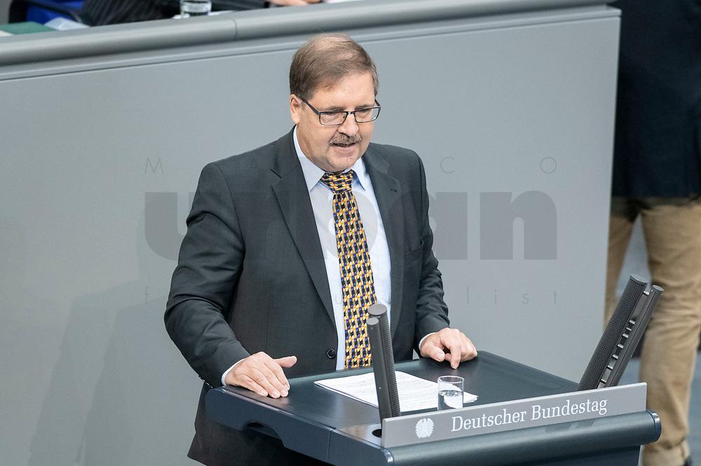 13 FEB 2020, BERLIN/GERMANY:<br /> Martin Hebner, MdB, AfD, Sitzung des Deutsche Bundestages, Plenum, Reichstagsgebaeude<br /> IMAGE: 20200213-01-013