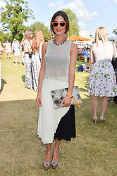 CHARLOTTE HAYES-JONES at the Summer Solstice Party during the Boodles Tennis event hosted by Beulah London and Taylor Morris at Stoke Park, Park Road, Stoke Poges, Buckinghamshire on 21st June 2014.