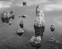 Mono Lake #1, tufa formations, Mono Lake, California