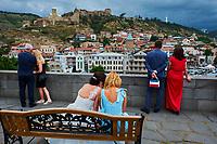 Georgie, Caucase, Tbilissi, vieille ville depuis la place Vakhtang Gorgasali // Georgia, Caucasus, Tbilisi, old city from Vakhtang Gorgasali square