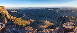 View from South Rim, looking into Mexico, Big Bend National Park, Texas, USA.