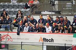 Belgium Team supporting for the Reining team<br /> World Equestrian Games Lexington - Kentucky 2010<br /> © Dirk Caremans