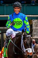 Jockey Juan Vargas on Buckroy, Keeneland Racecourse, Lexington, Kentucky USA.