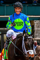Jockey Juan Vargas on Buckroy, Keeneland Racecourse, Lexington, Kentucky USA.