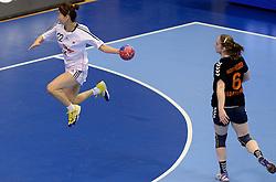 08-12-2013 HANDBAL: WERELD KAMPIOENSCHAP ZUID KOREA - NEDERLAND: BELGRADO <br /> 21st Women s Handball World Championship Belgrade. Nederland verliest de tweede partij van het WK met 29-26 van Korea / WOO Sun Hee<br /> ©2013-WWW.FOTOHOOGENDOORN.NL