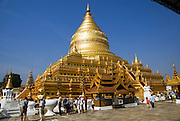 Myanmar, Bagan, Shwezigon Pagoda temple