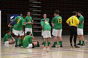 Central players following the Mens Futsal Superleague match, Central v Capital, Pettigrew Green Arena, Napier, Saturday, September 28, 2019. Copyright photo: Kerry Marshall / www.photosport.nz