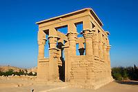 Egypte, Haute-Egypte, Assouan, île d' Agilka, temple de Philae // Egypt, Nile valley, Aswan, Agilkia island, Philae, UNESCO World Heritage Site