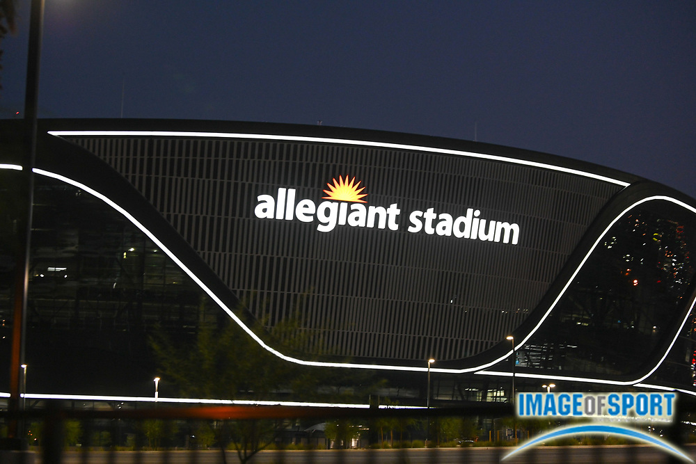 General overall view of Allegiant Stadium, Monday, Sept. 14, 2020, in Las Vegas. (Dylan Stewart/Image of Sport)