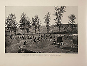 """Outpost of Union Lines in front of Atlanta GA. 1864 from The American Civil War book and Grant album : """"art immortelles"""" : a portfolio of half-tone reproductions from rare and costly photographs designed to perpetuate the memory of General Ulysses S. Grant, depicting scenes and incidents in connection with the Civil War Published  in Boston and New York by W. H. Allen in 1894"""