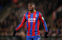 """Crystal Palace's Christian Benteke during the Premier League match at Selhurst Park, London. PRESS ASSOCIATION Photo. Picture date: Thursday December 28, 2017. See PA story SOCCER Palace. Photo credit should read: John Walton/PA Wire. RESTRICTIONS: EDITORIAL USE ONLY No use with unauthorised audio, video, data, fixture lists, club/league logos or """"live"""" services. Online in-match use limited to 75 images, no video emulation. No use in betting, games or single club/league/player publications."""