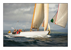 Day five of the Fife Regatta, Race from Portavadie on Loch Fyne to Largs. <br /> Solway Maid, Roger Sandiford, GBR, Bermudan Cutter, Wm Fife 3rd, 1940<br /> <br /> <br /> * The William Fife designed Yachts return to the birthplace of these historic yachts, the Scotland's pre-eminent yacht designer and builder for the 4th Fife Regatta on the Clyde 28th June–5th July 2013<br /> <br /> More information is available on the website: www.fiferegatta.com