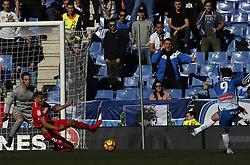 January 20, 2018 - Barcelona, Spain - Sergio Garcia, Mercado and Sergio Rico during the La Liga match between RCD Espanyol and Sevilla FC played in the RCDEstadium, in Barcelona, on January 20, 2018. Photo: Joan Valls/Urbanandsport/Nurphoto  (Credit Image: © Joan Valls/NurPhoto via ZUMA Press)