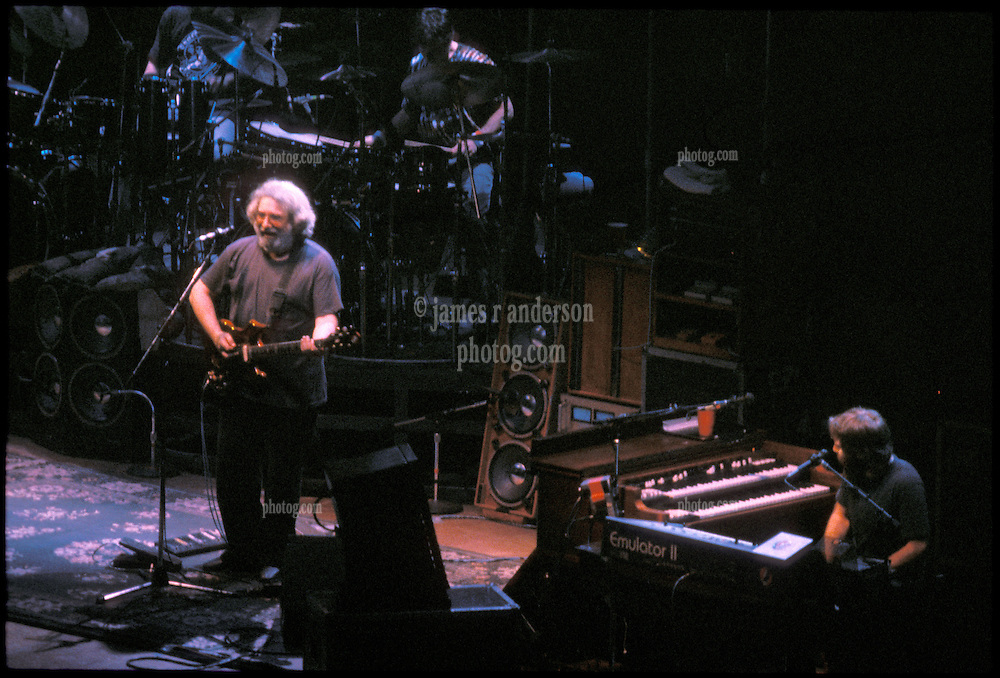 Jerry, Micky & Brent. The Grateful Dead in Concert at the Hartford Civic Center 26 March 1987