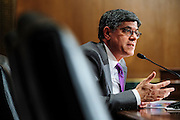 Treasury Secretary Jack Lew testifies before the Senate Finance Committee on Capitol Hill  in Washington, District of Columbia, U.S., on Thursday, April 11, 2013. Photographer: Pete Marovich/Bloomberg