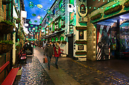 The colorful streets in the Cathedral Quarter in Belfast, Northern Ireland