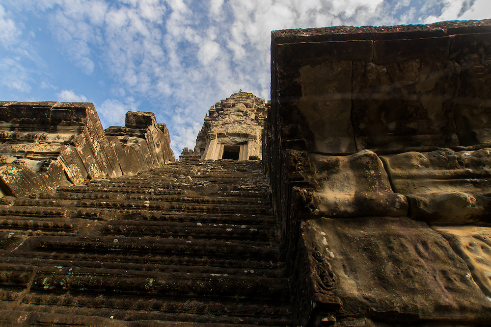 The Bakan Sanctuary is the principal sanctuary and summit of Angkor Wat's central temple.  Bakan currently houses four statues of Buddha each facing a different cardinal direction.