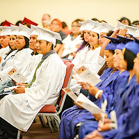 060515  Adron Gardner/Independent<br /> <br /> Graduation begins for New Life Learning GED program graduates at the Lighthouse Church in Gallup Friday.