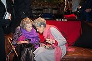 COUNTESS MOUNTBATTEN OF BURMA; JAYA THADANI;; , Book launch for ' Daughter of Empire - Life as a Mountbatten' by Lady Pamela Hicks. Ralph Lauren, 1 New Bond St. London. 12 November 2012.