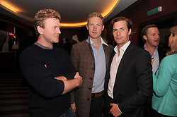A party to promote the exclusive Puntacana Resort & Club - the Caribbean's Premier Golf & Beach Resort Destination, was held at The Groucho Club, 45 Dean Street London on 12th May 2010.<br /> <br /> Picture shows:-Left to right, WILL NEWTON, SAM HOARE and NICK SMYTH