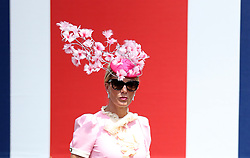A female racegoer during day two of Royal Ascot at Ascot Racecourse.