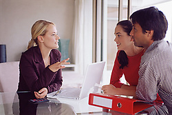 Dec. 14, 2012 - Couple meeting with a financial adviser (Credit Image: © Image Source/ZUMAPRESS.com)