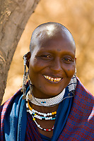 Maasai woman, Manyatta village, Ngorongoro Conservation Area, Tanzania