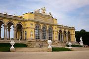 The mighty Gloriette, a part of the  Schönbrunn Palace, resting atop Schönbrunn hill