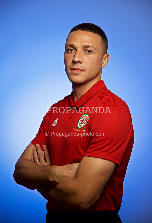 CARDIFF, WALES - Monday, September 3, 2018: Wales' James Chester poses for a portrait at the St Fagans National Museum of History ahead of the UEFA Nations League Group Stage League B Group 4 match against Republic of Ireland. (Pic by David Rawcliffe/Propaganda)