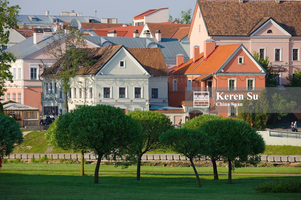 Old town in Minsk, Belarus
