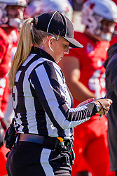 NORMAL, IL - October 16:  Leanne Surmin during a college football game between the NDSU (North Dakota State) Bison and the ISU (Illinois State University) Redbirds on October 16 2021 at Hancock Stadium in Normal, IL. (Photo by Alan Look)
