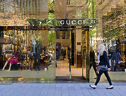 Gucci upmarket fashion boutique shop on Konigsallee in Düsseldorf in Germany